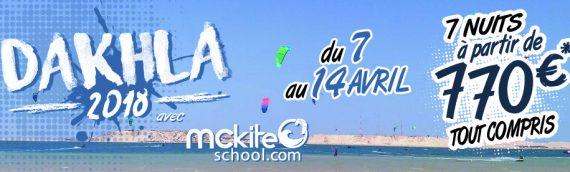 Avec Mckiteschool partez à Dakhla du 7 au 14 Avril 2018  pour 770€
