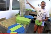 Visite Usine Crazyfly Kiteboarding by Mckite: la fabrication des planches de Kitesurf
